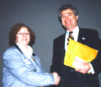 Secretary Freeman with state correction association president Donna Cannon